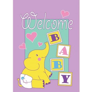 Baby Welcome Garden Flag