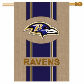 Baltimore Ravens Burlap House Flag
