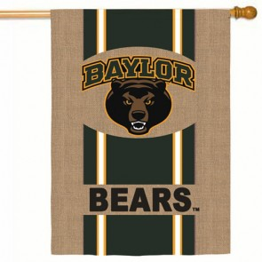Baylor Bears Burlap House flag