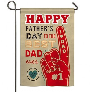 Best Dad Ever garden Flag