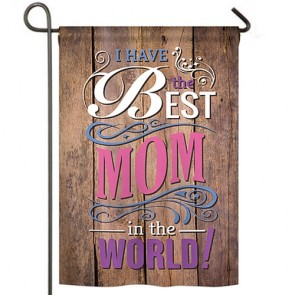 Best Mom in the World Garden Flag