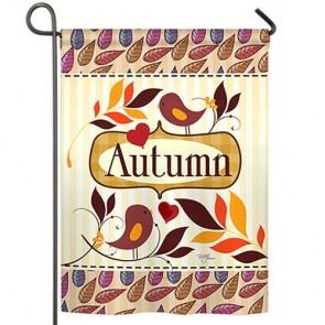 Birds Autumn Garden Flag