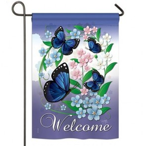 Blue Butterflies Garden Flag