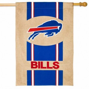 Buffalo Bills Burlap House Flag