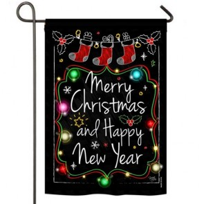 Chalkboard Merry Christmas Garden Flag