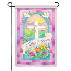 Christ is Risen Easter Garden Flag