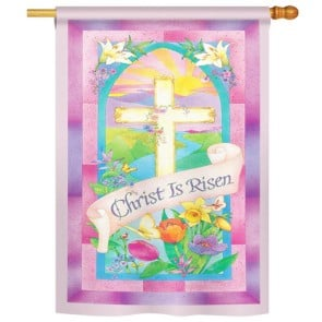 Christ is Risen Easter House Flag