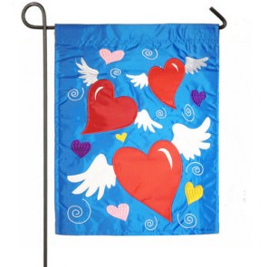 Classical Hearts Valentines Day Garden Flag