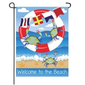 Crab Welcome to the Beach Garden Flag