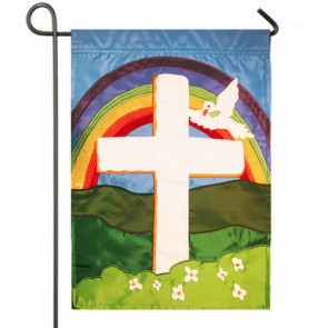 Faith Cross Garden Easter Flag