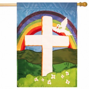 Faith Cross Easter House Flag
