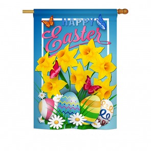 Daffodils Easter House Flag
