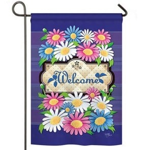 Daisies Welcome Garden Flag