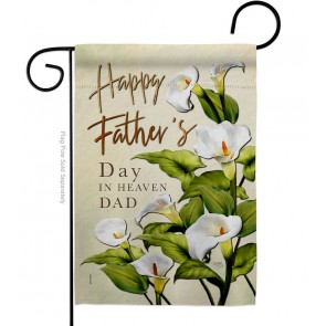 Fathers Day in Heaven Garden Flag