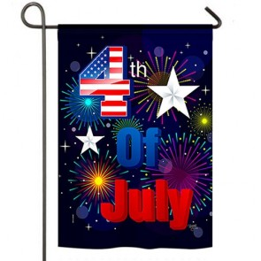 Fireworks 4Th of July Garden Flag