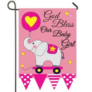 God Bless our Baby Girl Garden Flag