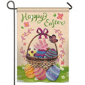 Happy Easter Colorful Happy Easter Egg Garden Flag