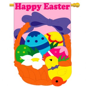 Happy Easter House Flag