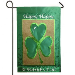 Happy St Patrick's Day Burlap St Patrick's Day  Garden Flag