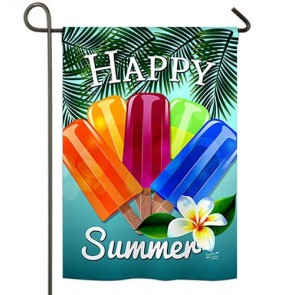 Happy Summer Pop Garden Flag