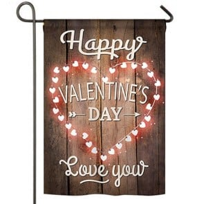 Happy Valentines Day Garden Flag