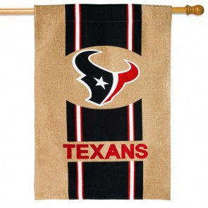 Houston Texans Burlap House Flag