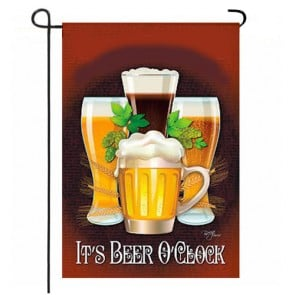 It's Beer O Clock   Garden Flag