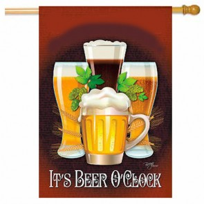 It's Beer O Clock   House Flag