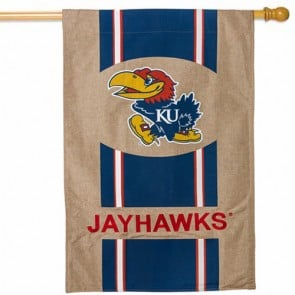 Kansas Jayhawks College House Flag