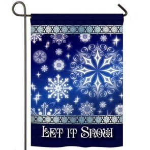 Let it Snow Dream Garden Flag