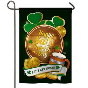 Lets Get Irish Garden Flag