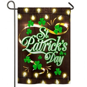 Lightful St Patrick's Day Garden Flag