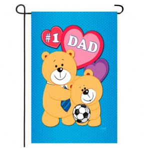 Love DAD Fathers Day Garden Flag
