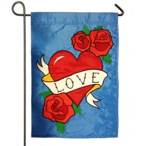 Love   Valentines Day Garden Flag
