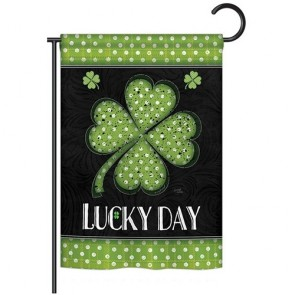 Lucky Day Clover Garden Flag
