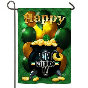 Lucky Gold Pot  Garden Flag