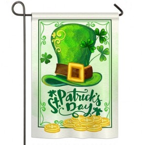 Lucky Hat St Patrick's Day Garden Flag