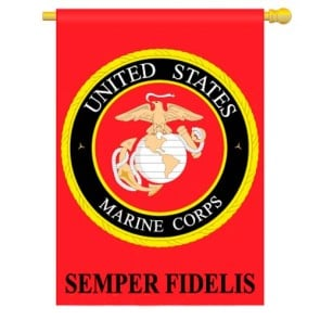 Marine Corps House Flag