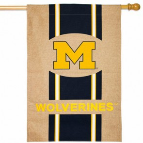 Michigan Wolverines College House Flag