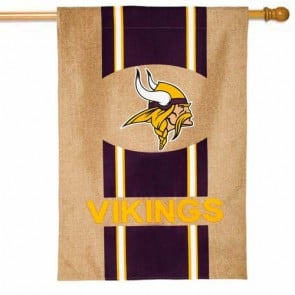 Minnesota Vikings Burlap House Flag