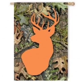 Mossy Oak Buck House Flag