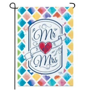 Mr & Mrs (Wedding) Garden Flag