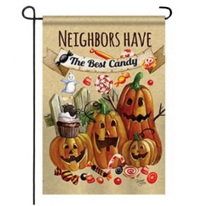 Neighbors Candy Halloween Garden Flag