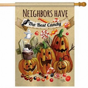 Neighbors Candy Halloween House Flag