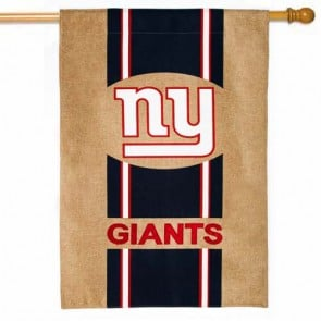 New York Giants Burlap House Flag