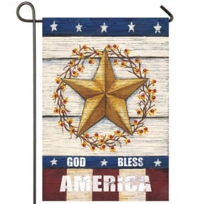 Patriotic Barn Star Patriotic Garden Flag