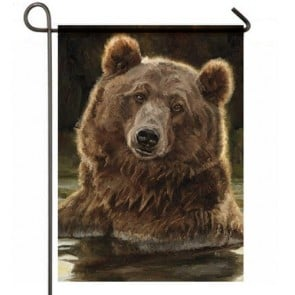 Playful Bear Garden Flag
