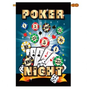Poker Night House Flag