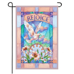 Rejoice Easter Garden Flag