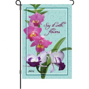 Say it with Flowers Garden Flag